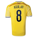 Colombia 2014 AGUILAR Home Soccer Jersey
