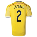Colombia 2014 ESCOBAR Home Soccer Jersey