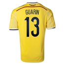 Colombia 2014 GUARIN Home Soccer Jersey