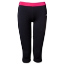 adidas Women's TechFit Three Quarter Tight (Black/Pink)
