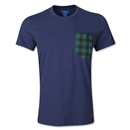 adidas Originals Plaid Pocket T-Shirt (Navy)