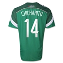 Mexico 2014 CHICHARITO Authentic Home Soccer Jersey