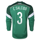 Mexico 2014 C SALCIDO LS Home Soccer Jersey