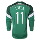 Mexico 2014 C. VELA LS Home Soccer Jersey
