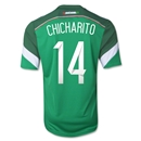 Mexico 2014 CHICHARITO Youth Home Soccer Jersey