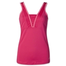 adidas Women's Twist Splice Tank (Berry)