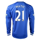 Chelsea 13/14 21 MATIC LS Home Soccer Jersey
