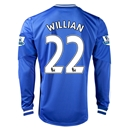 Chelsea 13/14 22 WILLIAN LS Home Soccer Jersey