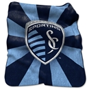 Sporting Kansas City Raschel Throw Blanket