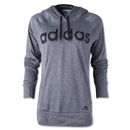 adidas Women's Ultimate Fleece Logo Hoody (Dk Grey)