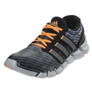 adidas adiPure Crazy Quick Running Shoe (Tech Grey/Carbon Metallic/Solar Zest)