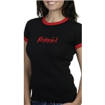 Rugby Girl Ringer SS T-Shirt (Blk/Red)