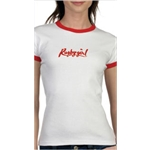 Rugby Girl Ringer SS T-Shirt (Wht/Red)