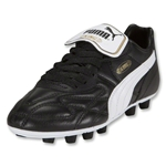 PUMA King Top i FG Jr. (Black/White/Team Gold)