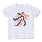 Netherlands Dutch Lion Youth Soccer T-Shirt (White)