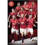 Manchester United 14/15 Collage Poster