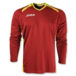 Joma Champion II Long Sleeve Jersey (Red/Yellow)