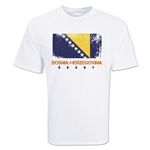 Bosnia-Herzegovina Country Rugby Flag T-Shirt