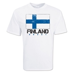Finland Country Rugby Flag T-Shirt