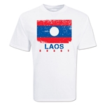 Laos Country Rugby Flag T-Shirt