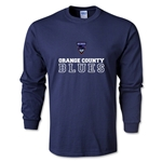Orange County Blues Soccer LS T-Shirt (Navy)