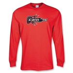 Boston Cannons MLL LS Lacrosse T-Shirt (Red)