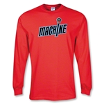 Ohio Machine MLL LS Lacrosse T-Shirt (Red)