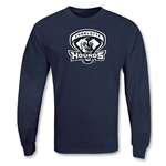 Charlotte Hounds MLL LS Lacrosse T-Shirt (Navy)