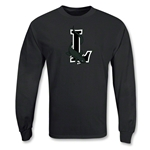 Long Island Lizards MLL LS Lacrosse T-Shirt (Black)