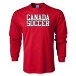 Canada Soccer Supporter LS T-Shirt (Red)