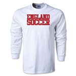 England Soccer Supporter LS T-Shirt (White)