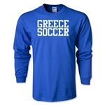 Greece Soccer Supporter LS T-Shirt (Royal)