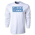 Greece Soccer Supporter LS T-Shirt (White)