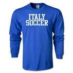 Italy Soccer Supporter LS T-Shirt (Royal)