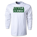 Jamaica Soccer Supporter LS T-Shirt (White)