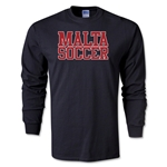 Malta Soccer Supporter LS T-Shirt (Black)