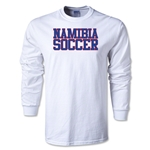 Namibia Soccer Supporter LS T-Shirt (White)