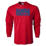 Namibia Soccer Supporter LS T-Shirt (Red)