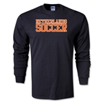 Netherlands Soccer Supporter LS T-Shirt (Black)