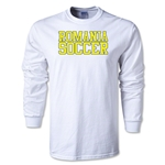 Romania Soccer Supporter LS T-Shirt (White)