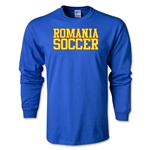Romania Soccer Supporter LS T-Shirt (Royal)