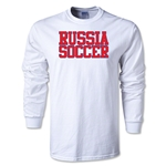 Russia Soccer Supporter LS T-Shirt (White)