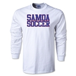 Samoa Soccer Supporter LS T-Shirt (White)