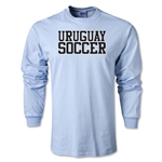 Uruguay Soccer Supporter Long Sleeve T-Shirt (Sky Blue)