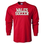 Wales Soccer Supporter LS T-Shirt (Red)