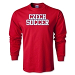 Czech Soccer Supporter LS T-Shirt (Red)