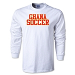 Ghana Soccer Supporter LS T-Shirt (White)