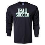 Iraq Soccer Supporter LS T-Shirt (Black)