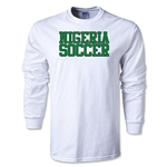 Nigeria Soccer Supporter LS T-Shirt (White)
