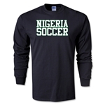 Nigeria Soccer Supporter LS T-Shirt (Black)
